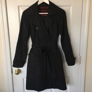 Naf Naf 100% Cotton Trench Coat